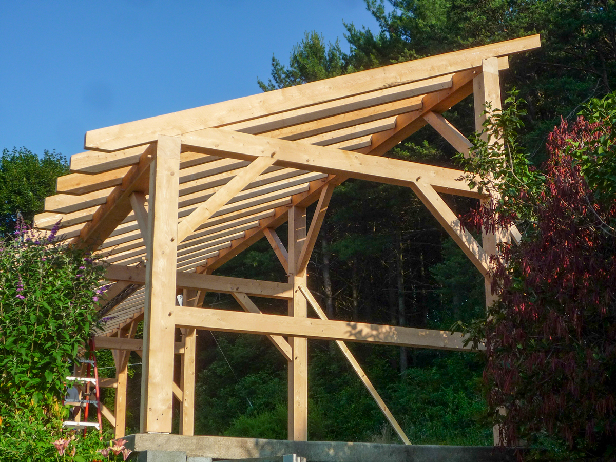 Old time timber framing